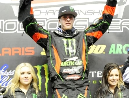 ARCTIC CAT PROCROSS ON TOP OF THE CANTERBURY PODIUM