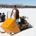 "An Autoboggan putting down some pure Wisconsin power to the snowpack and ""owning"" the two-up Sno Pony."