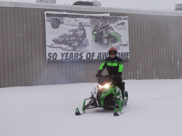 First Ride of the Season Comes Early for Arctic Cat