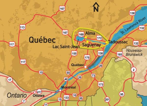 Map Saguenay