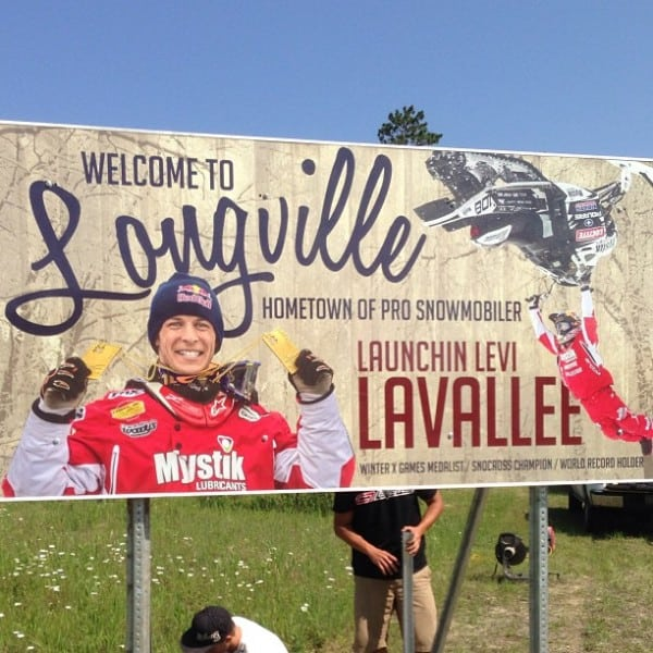Levi LaVallee Signs Go Up In Hometown
