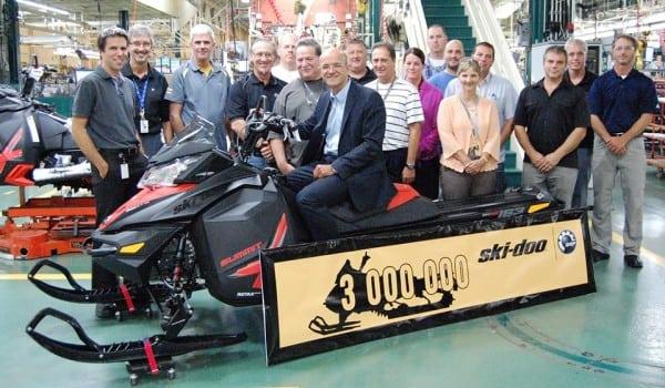 BRP Produces Its 3 Millionth Ski-Doo Snowmobile
