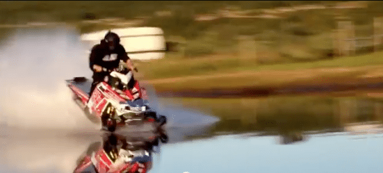 World Record Speed On Water For Snowmobile