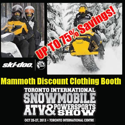 MAMMOTH SKI-DOO NON-CURRENT DISCOUNT CLOTHING MEGA BOOTH IS BACK!