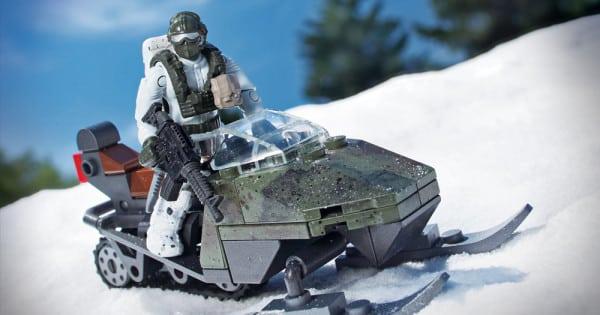 Mega Bloks Mountain Recon Snowmobile