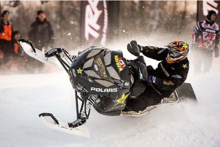Iain Hayden rocks at ISOC Snocross season opener in Duluth