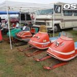Vintage sleds by the hundreds were on display including this nice collection as part of the Waconia Vintage Ride In event slated for January 23-25, 2015 in Waconia, Minnesota.