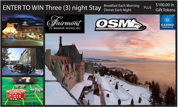 Enter To Win 3 Night Stay at the Fairmont Le Manoir Richelieu