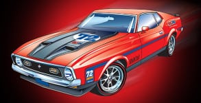 72 Mustang Rendering