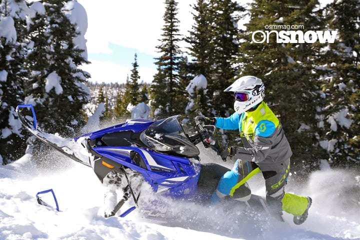 The all-new BTX category of sleds for Yamaha blends the line between pure mountain and crossover with a host of mountain goodies combined with a wide 40-inch stance front. As with all Sidewinders, the biggest challenge proved to be holding on when lighting the lamp.