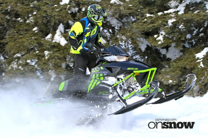 "In our opinion the XF High Country Limited is one of the best-looking sleds for Arctic Cat for 2017. The backcountry focused sled touts all the subtle changes found across the line for Cat next season and features 141-inch length track with 2.25"" lugs mated to the mountain focused AMS front suspension in a narrowed stance. New to the fold for next winter will be a longer 153"" High Country in the 8000 power series."