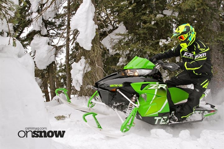 The RR remains the big bump banger for Arctic Cat in 2017 but the move to coil-over FOX Quick Switch 3 shocks with rebound control makes the sled easier to tune for conditions and allows you to easily choose between hard charging race-inspired damping or trail comfort. All four shocks feature Kashima coating for improved durability and reduced stiction.