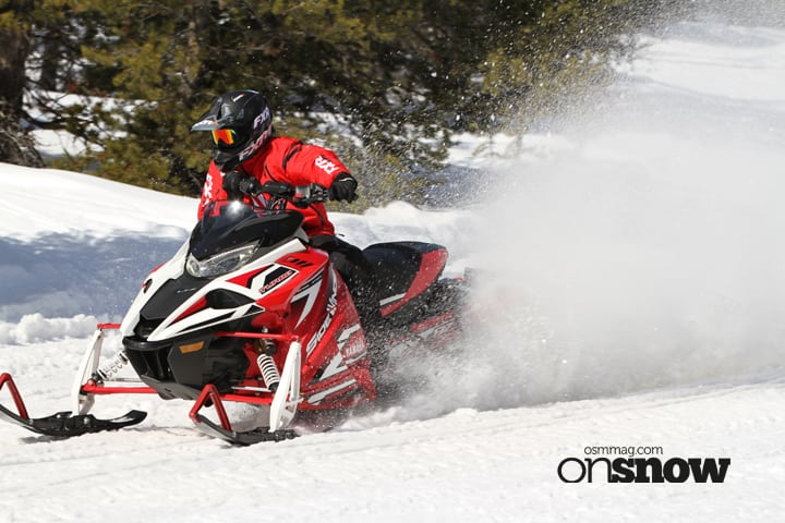 """Frankly we were surprised to find the Yamaha Sidewinder RTX  in the """"shorty"""" 129-inch track length. Finding adequate traction to harness the pure power and acceleration of the turbo motor is nearly impossible. If you're looking for ridiculous power in trail trim, opt for the slightly longer and more stable 137-inch version in LTX trim."""