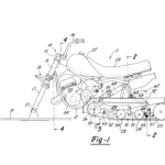 Here's maybe the oldest example we could find, a patent filed by Yamaha for a small snowmobile.