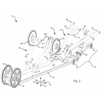 """Arctic Cat filed this patent for an articulating skid frame (simply called """"Snowmobile Skid Frame Assembly"""" in the patent) in 2013."""
