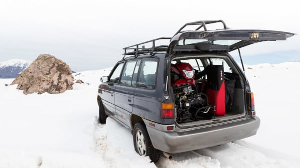 Behold: The Irbus T150 Collapsible Snowmobile