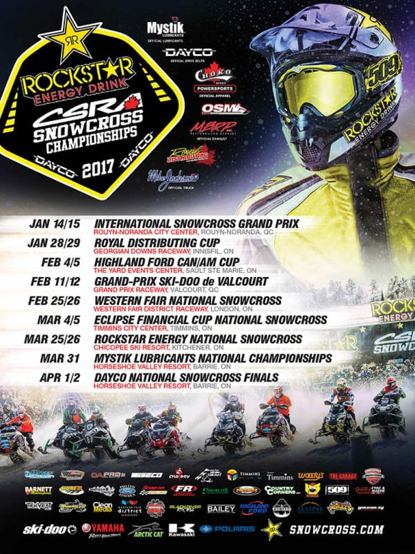 2017 CSRA National Schedule