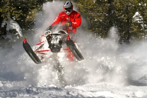 """The added traction available on Sidewinder BTX models with the all-new 153"""" x 1.75"""" Backcountry track makes it easy to stab the throttle and initiate sky launch at a moments notice."""