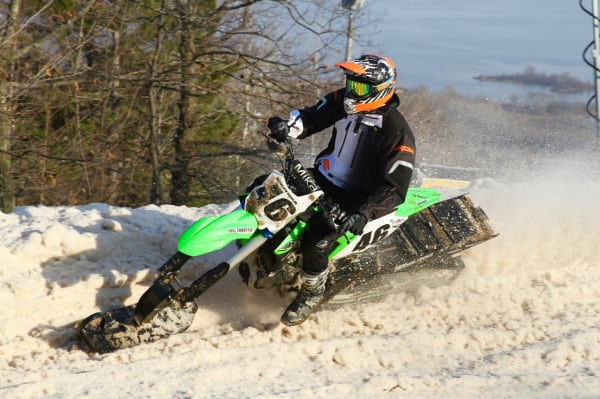 Huizenga Takes First Ever ISOC National Snowbike Win; Selby Podiums Arctic Cat SVX450
