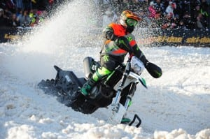 Wes Selby on his way to a second place finish in the first ever ISOC National snobike race in Duluth, Minnesota. Photo Credit: ArcticInsider.com