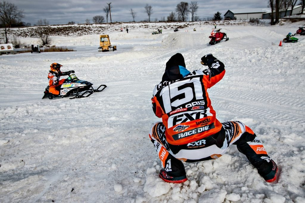 The inspiration to create a venue that caters to racers of all ages and abilities lives strong each December when ERX hosts a Learn 2 Ride Snocross Clinic. The multi-part clinic features many of today's top racers including Chris Carlson's son and Pro-Open rider Andrew Carlson, seen here coaching and inspiring the racers of tomorrow.