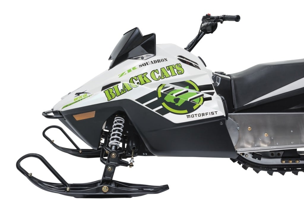 Join the legendary Black Cat team with a new Cat Wrap. Right and left side graphics are constructed from premium vinyl, with exact sizing for the ZR 200 hood. The MSRP is $169.95 U.S./$254.95 Canada. The part number is 7639-717.