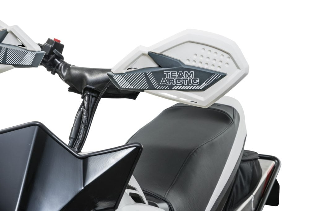 Premium Hand Guards add style and increased hand protection. Sold in pairs, they're injection-molded and come with flexible nylon mounting brackets. The MSRP is $79.95 U.S./$119.95 Canada. The part number is 7639-725.