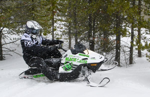 Mid-Sized Arctic Cat ZR200 Gears Up for Winter with Accessories in a Big Way