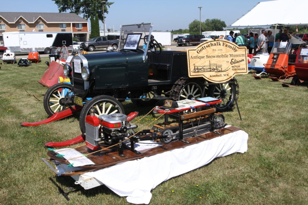 The Gottschalk Family, who only recently became actively involved in snowmobile collecting brought out a few gems to the meeting including an exact replica of the original Eliason Motor Toboggan.