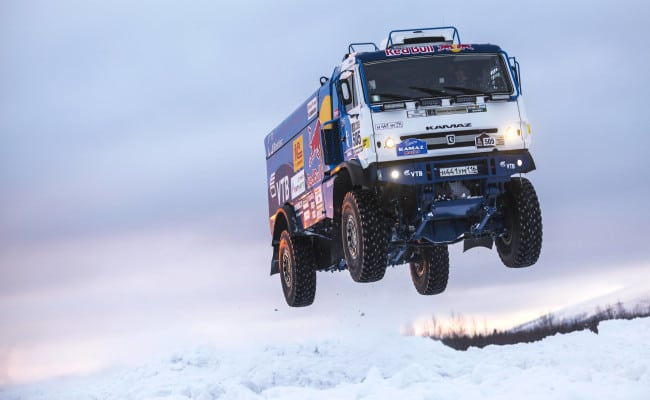 Russian Rally Raid Truck, 1,000 Horsepower, 10-Tons, One Jump…What Could Go Wrong?