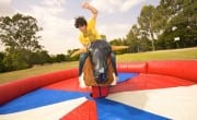 SKI-DOO AT HAY DAYS…BULL RIDING, REFRESHEMENTS, AND $75 BUCKS