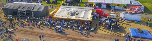 BULL RIDING, HAIRCUTS, AIR CONDITIONING, AND SOCKS MAKE THE SKI-DOO BOOTH A CAN'T MISS THIS HAY DAYS