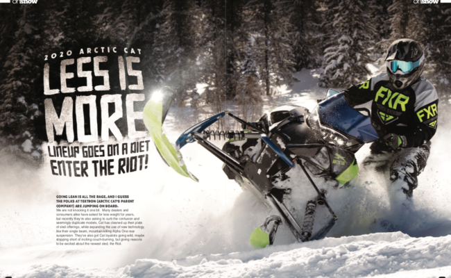 2020 ARCTIC CAT LESS IS MORE LINEUP GOES ON A DIET, ENTER THE RIOT