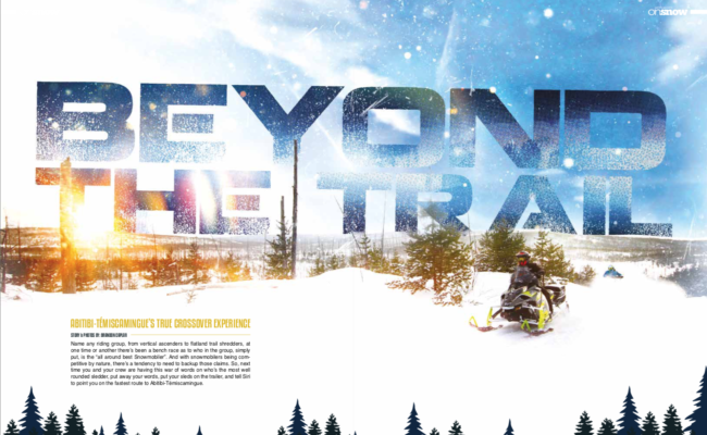 BEYOND THE TRAIL ABITIBI-TEMISCAMINGUE'S TRUE CROSSOVER EXPERIENCE