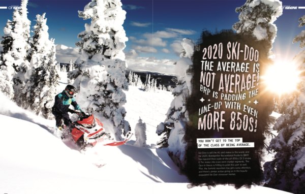 2020 SKI-DOO THE AVERAGE IS NOT AVERAGE, BRP IS PADDING THE LINE-UP WITH EVEN MORE 850's!
