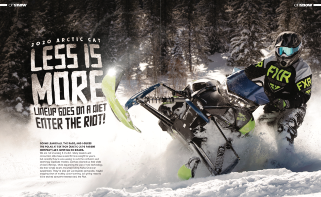 2020 ARCTIC CAT – LESS IS MORE LINEUP GOES ON A DIET, ENTER THE RIOT!