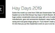 HAY DAYS 2019 – SCENE IT
