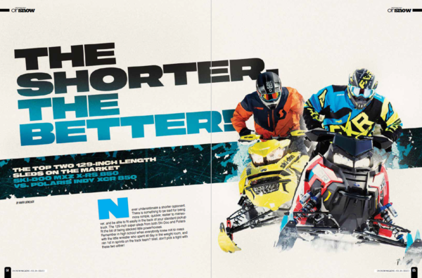 THE SHORTER, THE BETTER! THE TOP TWO 129-INCH LENGTH SLEDS ON THE MARKET – SKI-DOO MXZ X-RS 850 vs. POLARIS INDY XCR 850