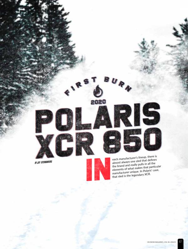 FIRST BURN – 2020 Polaris XCR 850